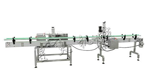 四头磁力泵灌装生产线-小型液体自动灌装旋盖生产线